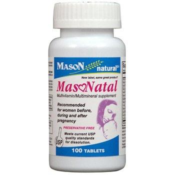 GQ1279100 - Mason Vitamins Masonatal compare to Stuart Natal Prenatal Tabs, 100 Count