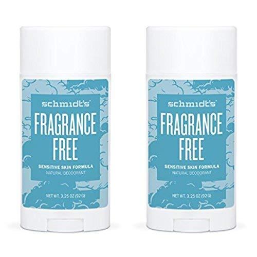 Schmidt's Deodorant,Sensitive Skin, Fragrance-Free, 3.25 oz (92 g) - 2pc