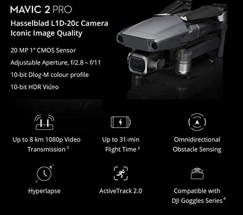 DJI Mavic 2 Pro with Smart Controller With Refresh Care Ultimate Travel Bundle (3 Batteries, Waterproof Case, ND Filters, Charging Hub and More)