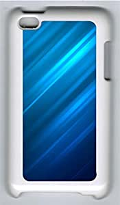iPod 4 Cases & Covers - Blue 45-degree Background Custom PC Soft Case Cover Protector for iPod 4 - White