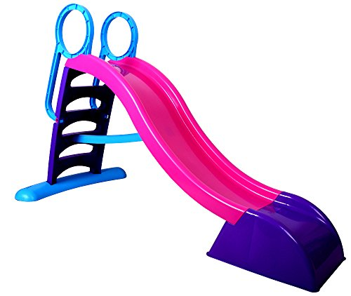 MochToys Childrens Plastic Slide, Kids Fun,Water Slide, Big Slide, Garden Slide, Indoor Slide - EU Certification (purple)