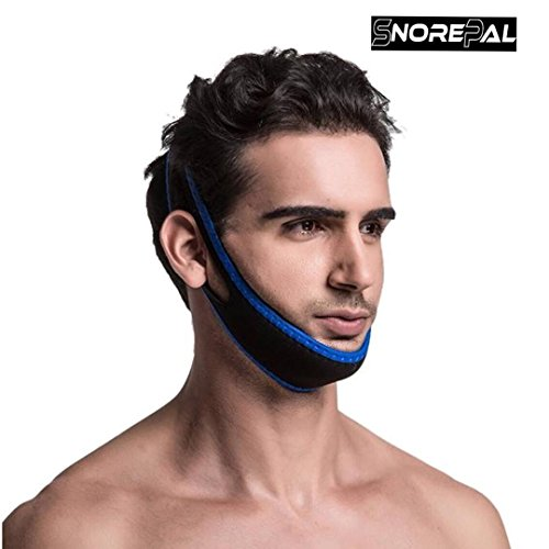 New Premium Anti Snoring Chin Strap -Simple Comfortable Adjustable Sleeping Aid Device -Perfect Size for Men, Women -Solutions for Mouth Breathers -Experience Nights Without Snoring with SnorePal