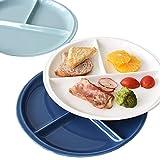 Divided Plates Set - Dishwasher and Microwave Safe - Healthy Portion Control Ceramic Dinner Plate - 25 cm(10