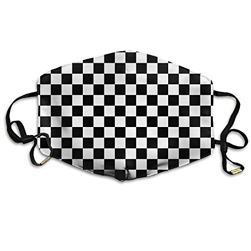 MINGYING Checkerboard Chess Board Anti Dust Breathable Face Mouth Mask For Man (Checkerboard Face)