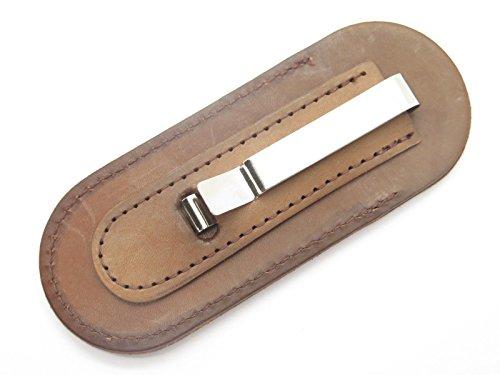 Buck 500 501 301 532 Bucklock Duke Brown Leather Folding Knife Sheath (Clip Knife Leather Pocket)