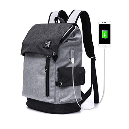MR. YLLS Business Laptop Backpack for Men/Women Anti Theft Tear/Water Resistant Travel Bag School/College Backpack fits up to 15.6 Inch Notebook Computer USB Charging Backpack (Gray)