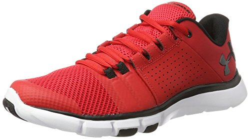 Under Armour Herren UA Strive 7 Hallenschuhe, Blau Rot (Red)