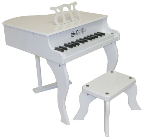 Schoenhut Piano Co 30-Key Fancy Baby Grand Toy Piano (White)