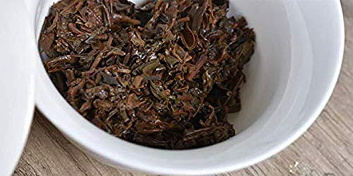 2007 China Tea 8281 [Dahuang Printing Iron Cake] Pu'er Tea Tea Seven-Piece Cake Pu'er Tea [Yiwu Ancient Tree Tea] Aroma Highlights Tea Soup Thickness Elasticity 2007 Pressing 91.7oz 13.4oz/cake7 Cake by NanJie (Image #5)