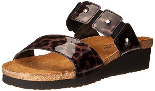 NAOT Women Ashley Wedge Sandal Cheetah Patent