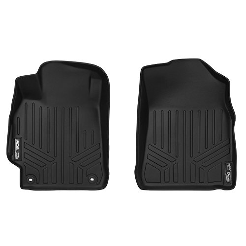 MAXFLOORMAT Floor Mats 1st Row Set Black for 2015-2017 Toyota Camry (New Body Style)