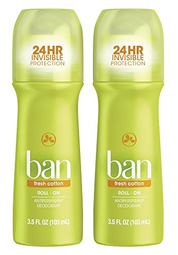 Hour Deodorant 24 Fa - Ban Roll-On Antiperspirant Deodorant, Fresh Cotton, 3.5oz (Pack of 2)