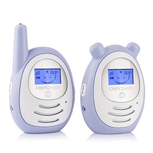 DBPOWER Digital Audio Baby Monitor with Two-Way and Talk-Back Intercom System, up to 1,000ft Extended Range, Lullaby, Rechargeable Battery Operated Parent Unit to Help Always Connected to Your Baby