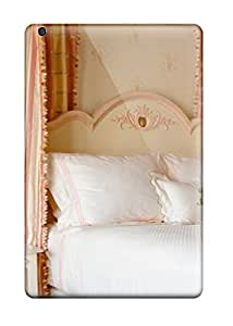 Premium FAHXNzf22830uFyib Case With Scratch-resistant/ Traditional Girl8217s Bedroom With Feminine 038 Striped Curtains On Canopy Bed Case Cover For Ipad Mini/mini 2