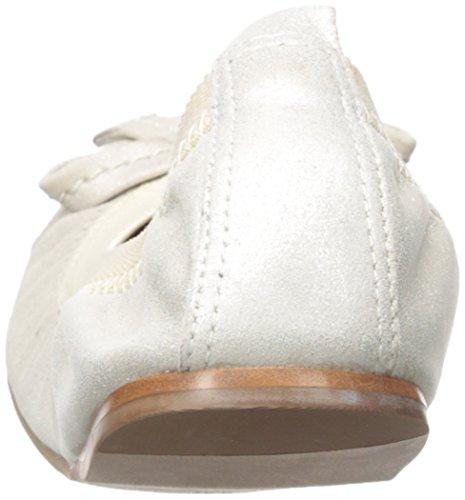 Womens Ballet Platinum Bernardo Bernardo Flat Womens Flat Ballet Calf ppOPwq
