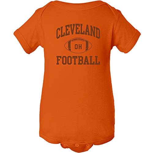 - Cleveland Classic Football Arch - American Football Team Sports Infant Creeper - 18 Month - Orange
