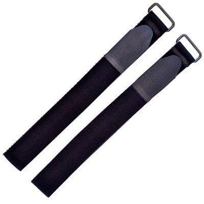 EXOUS BODYGEAR Hook & Loop Fastener Straps 11.5'' Adjustable Black - Cable Ties - fixings - Secure - 2 Pack