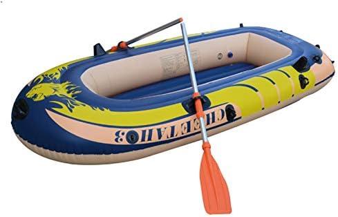 Fiudx インフレータブルボートセット インフレータブルカヤックセット 3~4人用 インフレータブルボート カヤック インフレータブルラフト 釣り ドリフティング ダイビング Fiudx L