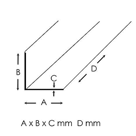 Aluminium Winkel Eloxiert L Profil Alu Schiene Aluprofil Winkelprofil Aluwinkel 40x40x3mm 2000mm