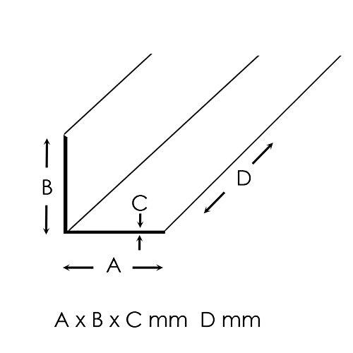 Aluminium Warzenblech Duett Winkel Riffelblech Aluwinkel Kantenschutz 1,5//2mm 40x40x1,5mm 1500mm