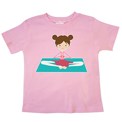 inktastic - Brunette Girl Sitting on Mat Toddler T-Shirt 3T Pink 273ff