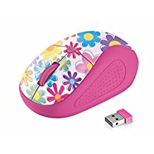 Trust 21481 Primo Wireless Mouse, pink flowers