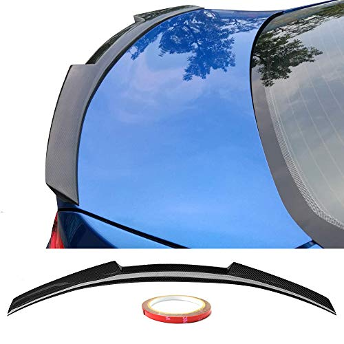 Trunk Spoiler Fits 2014-2017 BMW 2-Series F22 | M4 Style Carbon Fiber Black Trunk Boot Lid Spoiler Lip Wing By IKON MOTORSPORTS | 2015 2016