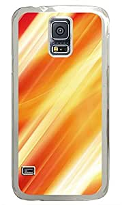Samsung Galaxy S5 Yellow And Orange Lines PC Custom Samsung Galaxy S5 Case Cover Transparent