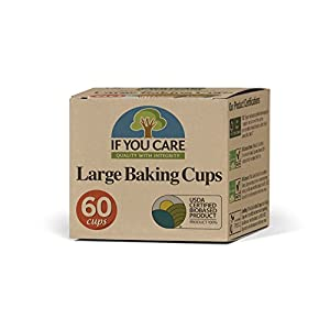 If You Care Unbleached Cupcake Liner Baking Cups – 24 Pack of 60-Count Boxes – Large Size – Made of Silicone Coated…