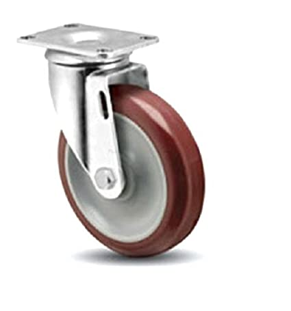 "Set 4 Swivel Casters with Non-Marking 4"" x 1.25"" Wheels / 1100# Cap."