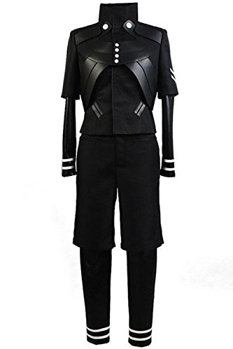 Zelda Midna Costume (Costhat Hallween Cosplay Black Top Conjoined Pant Uniform Outfit Suit Costume for Festival Party (Men:XX-Large, Coat+Shorts))