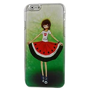 QHY Beautiful Watermelon Skirt Plastic Hard Back Cover for iPhone 6