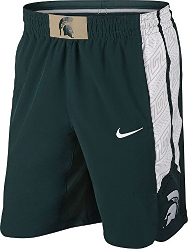 (Nike Men's Michigan State Spartans Green Authentic Basketball Shorts (XL))