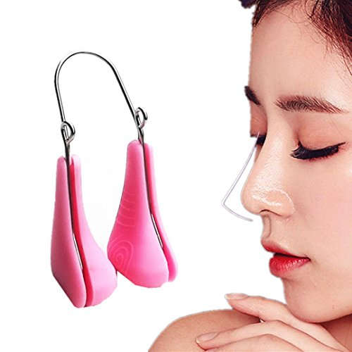 Silicone Nose Up Massager Beauty Tool (Pink) - 6