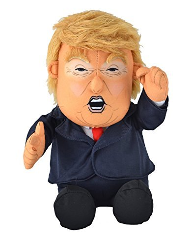 Pull My Finger Farting Donald Trump Plush Figure Doll -With Animated Hair-10.5 Inches Tall from TekkyToys