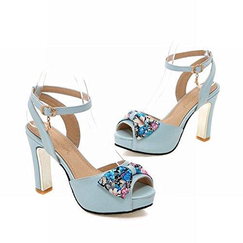 Charm Foot Womens Platform High Heel Peep Toe Dress Sandal Light Blue LhL2acntZ