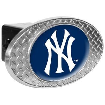 MLB New York Yankees Metal Diamond Plate Trailer Hitch - Cover Mlb Hitch Trailer