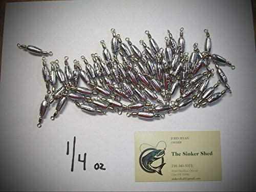 Amazon com : 1/4 Oz Trolling Sinkers with #7 Nickel Crane