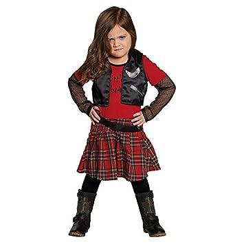 Punk Girl Gr. 116 Fasching Karneval Kostüm Halloween Party ...