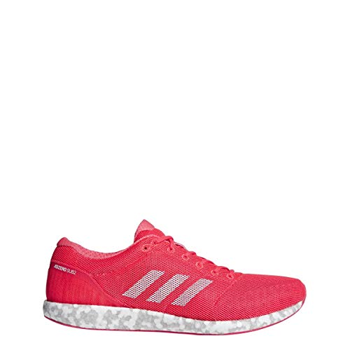 adidas Unisex Adizero Sub2 Running Shoes - Color: Shock Red/Feather White/Active Pink (Regular Width) - Size: 11