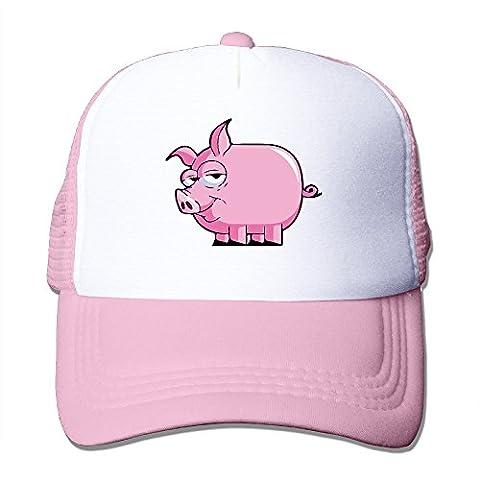 Pig Mesh Trucker Baseball Hat Pink - Pink Pig Hat