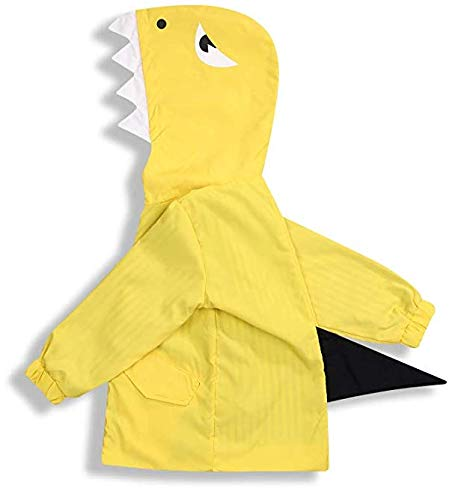 Birdfly Unisex Kids Animal Raincoat Cute Cartoon Jacket Hooded Zip Up Coat Outwear Baby Fall Winter Clothes School Oufits (5T, ()