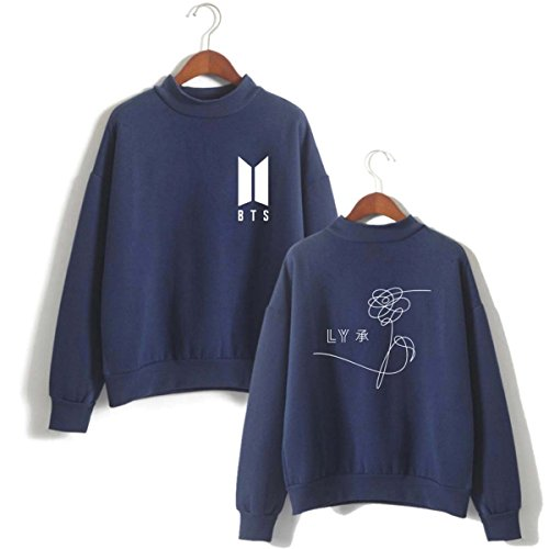 Loose Yourself Top Pulls Bleu Fitting Fans KPOP B Sweats Femme Mignon Love BTS SIMYJOY Sweatshirt Cool Fille 6q7ABXx