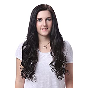 "OneDor 20"" Curly Full Head Synthetic Kanekalon Heat Resistant Clip in Hair Extension 9pcs (R1416T)"
