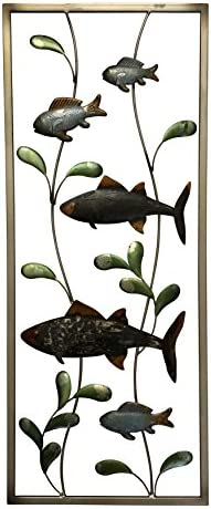 Boston Warehouse Metal Wall D cor, Lake Fish, 24 x10
