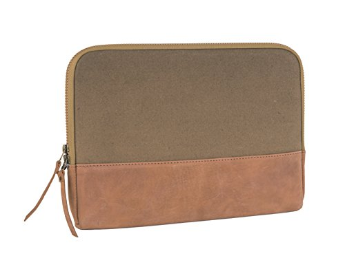 Cowhide Leather Skin Case (Canvas and Leather Laptop Sleeve, 15