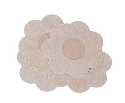 10Pairs Flower Shape Women's Disposable Self-Adhesive Bra Stick On Breast Pasties Invisible Nippleless Cover Bra Pad