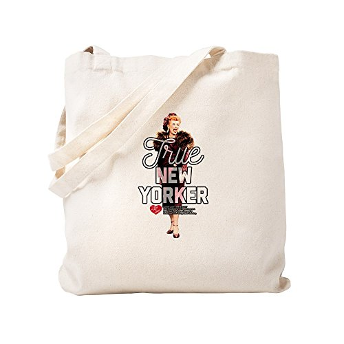 (CafePress - Lucy True New Yorker - Natural Canvas Tote Bag, Cloth Shopping Bag)