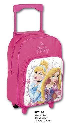 MGI Mochila con Ruedas de Las Princesas Disney, Rapunzel y la Cenicienta. Mochila Escolar. Carro Rosa: Amazon.es: Juguetes y juegos