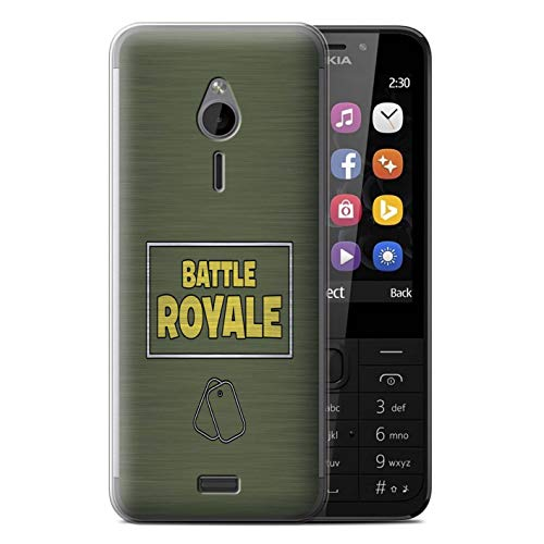 eSwish Gel TPU Phone Case/Cover for Nokia 230 / Dog Tags Design/FN Battle Royale Collection ()